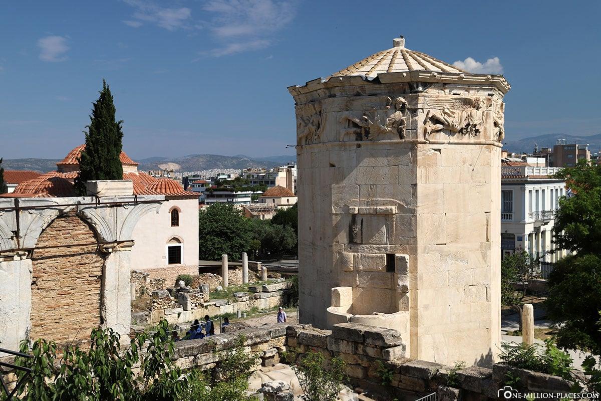 Turm der Winde, Athen, Griechenland, Sehenswürdigkeiten, Auf eigene Faust, Reisebericht, Fotospot