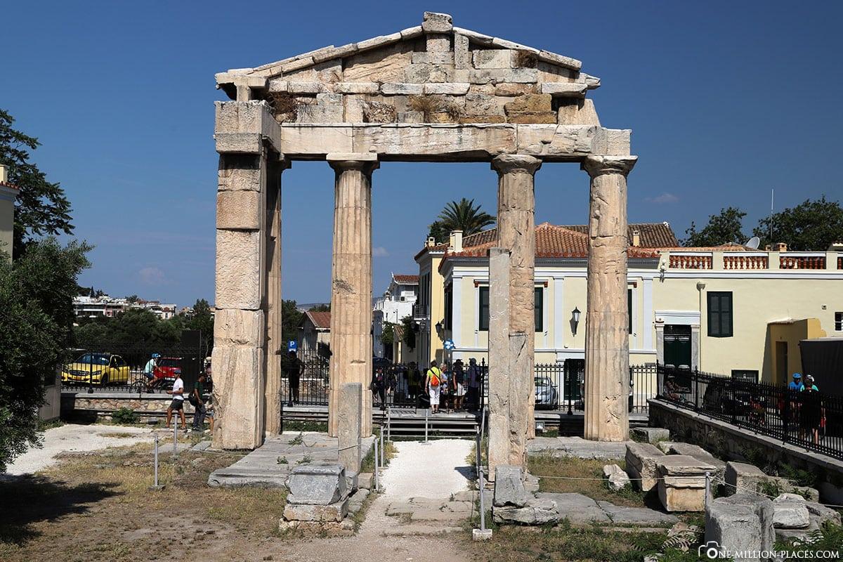 Gate of Athena Archegetis, Athen, Griechenland, Sehenswürdigkeiten, Auf eigene Faust, Reisebericht, Fotospot