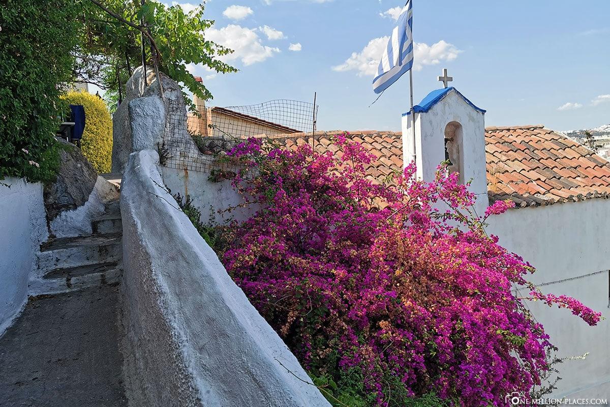 Stadtteil Plaka, Anafiotika, Athen, Griechenland, Sehenswürdigkeiten, Auf eigene Faust, Reisebericht, Fotospot