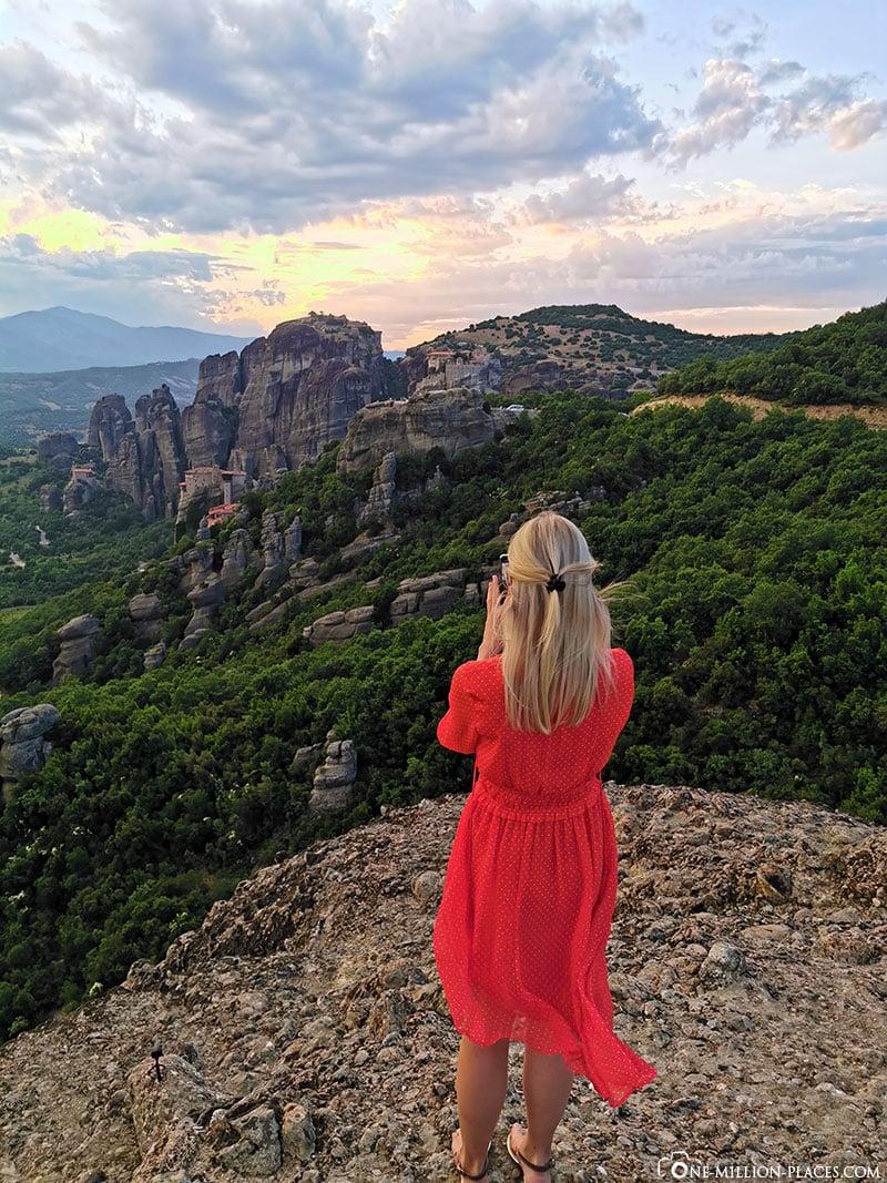 Meteora, Sonnenuntergang, Aussichtspunkt, Tour, Kalambaka, Griechenland, Reisebericht