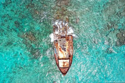 Drone footage of the shipwreck
