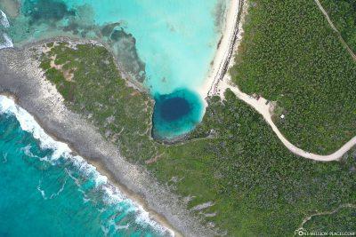 The Dean's Blue Hole on Long Island