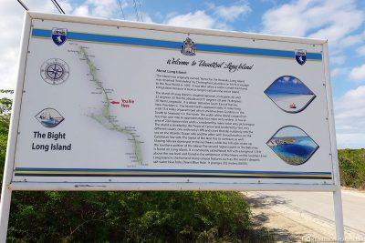 An island map of Long Island