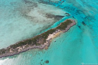 Drone footage of Dove Cay Island