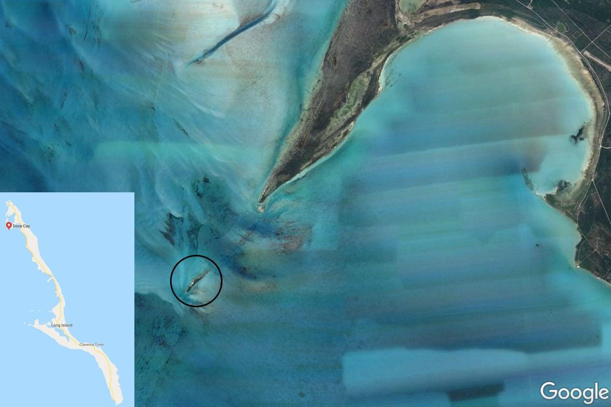 Dove Cay, Map, Long Island, Bahamas, Caribbean, Pigs, TravelReport