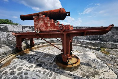 A rotatable cannon