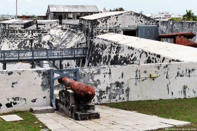 Überblick über das Fort Charlotte