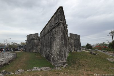 The walls of Fort Fincastle