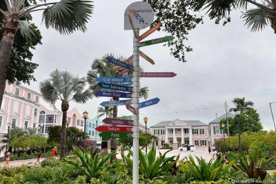 Wegweiser in Nassau