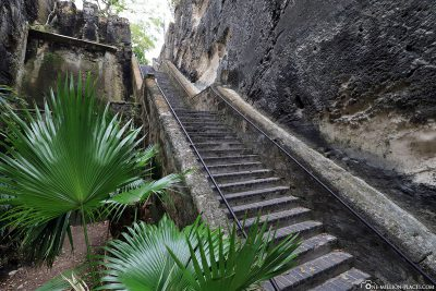 The stairs of the Queen's Staircase