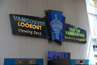 Entrance to the Vancouver Lookout