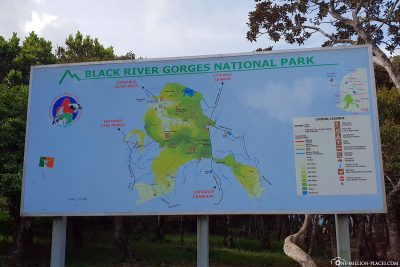 Map of Black River Gorges National Park