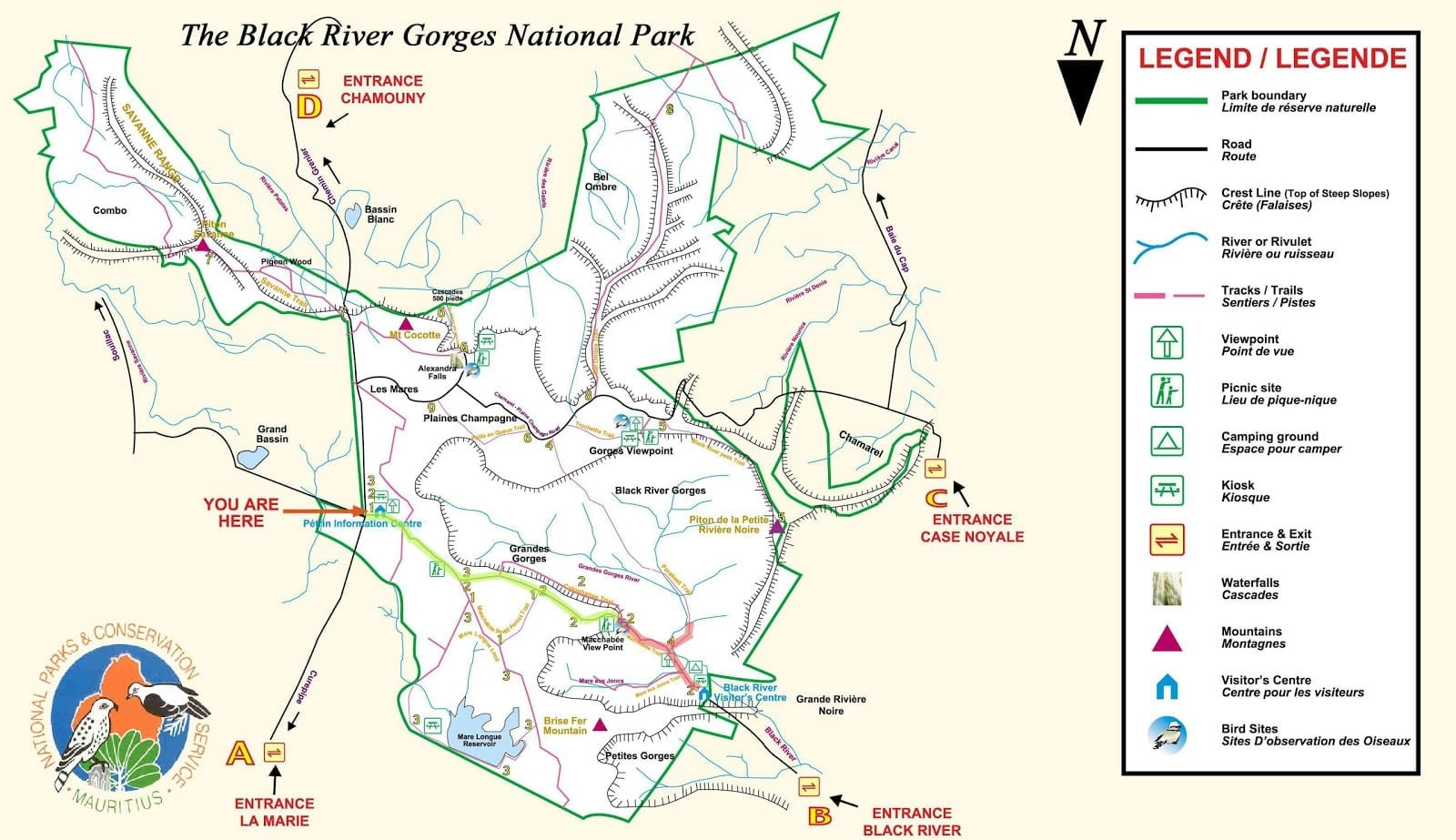 Back River Gorges NP Map