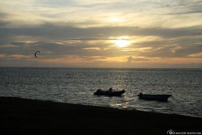 Sonnenuntergang in Mauritius