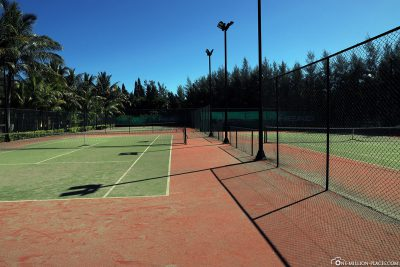 The tennis courts of Dinarobin