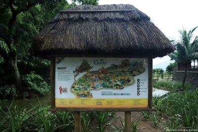 A map of Casela Park