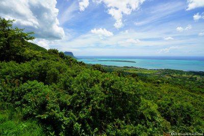 Ausblick auf die Westküste von Mauritius