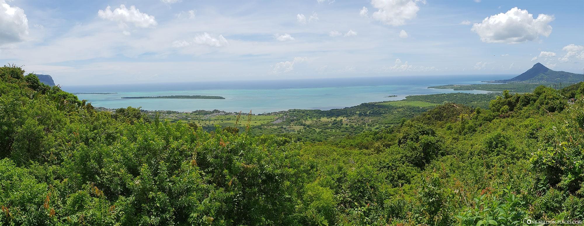 Chamarel Viewpoint, Panoramabild, Mauritius, Reisebericht