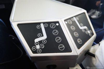 Die vielfältig verstellbaren Sitze in der Business Klasse