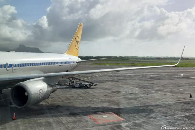 Arrival at Mauritius Airport
