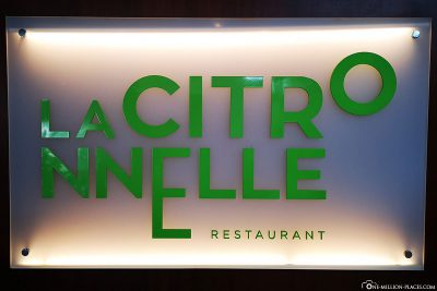 The main restaurant La Citronnelle