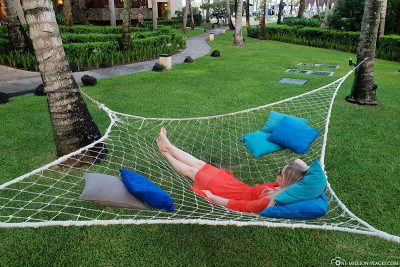 There are hammocks everywhere