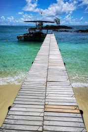The jetty to the pier of the boats