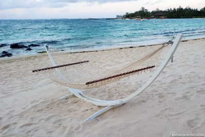 A hammock on the beach