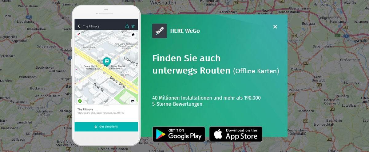 HERE WeGo, Offline Karten, Navigation, Mauritius, ohne Internet, Nur GPS