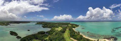 Panoramabild der Insel Ile aux Cerfs