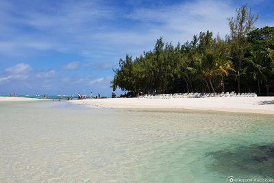 Der Strand der Insel Ile aux Cerfs