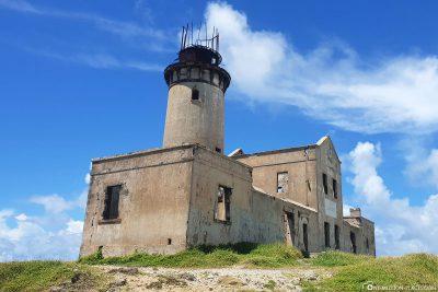 Der alte Leuchtturm auf der Insel Ile Aux Fouquets