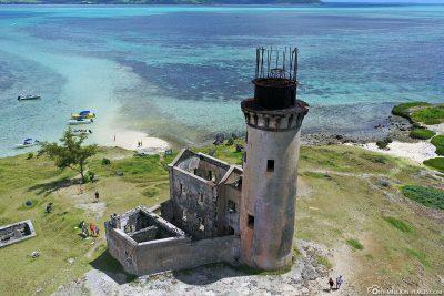 Luftaufnahme vom alten Leuchtturm