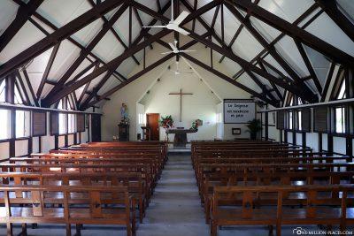 The interior of the church Cap Malheureux