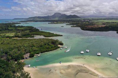 Die Insel Ile aux Cerfs auf Mauritius