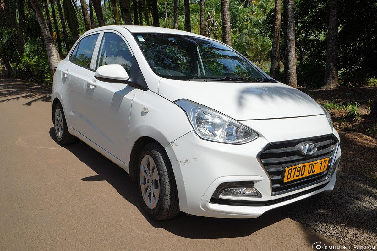 Mauritius, Mietwagen, Flughafen, First Car Rental, Hyundai Grand i10, Reisebericht, Mietauto, Car Rental