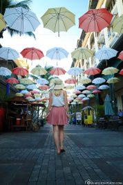 Colorful umbrellas in Mauritius