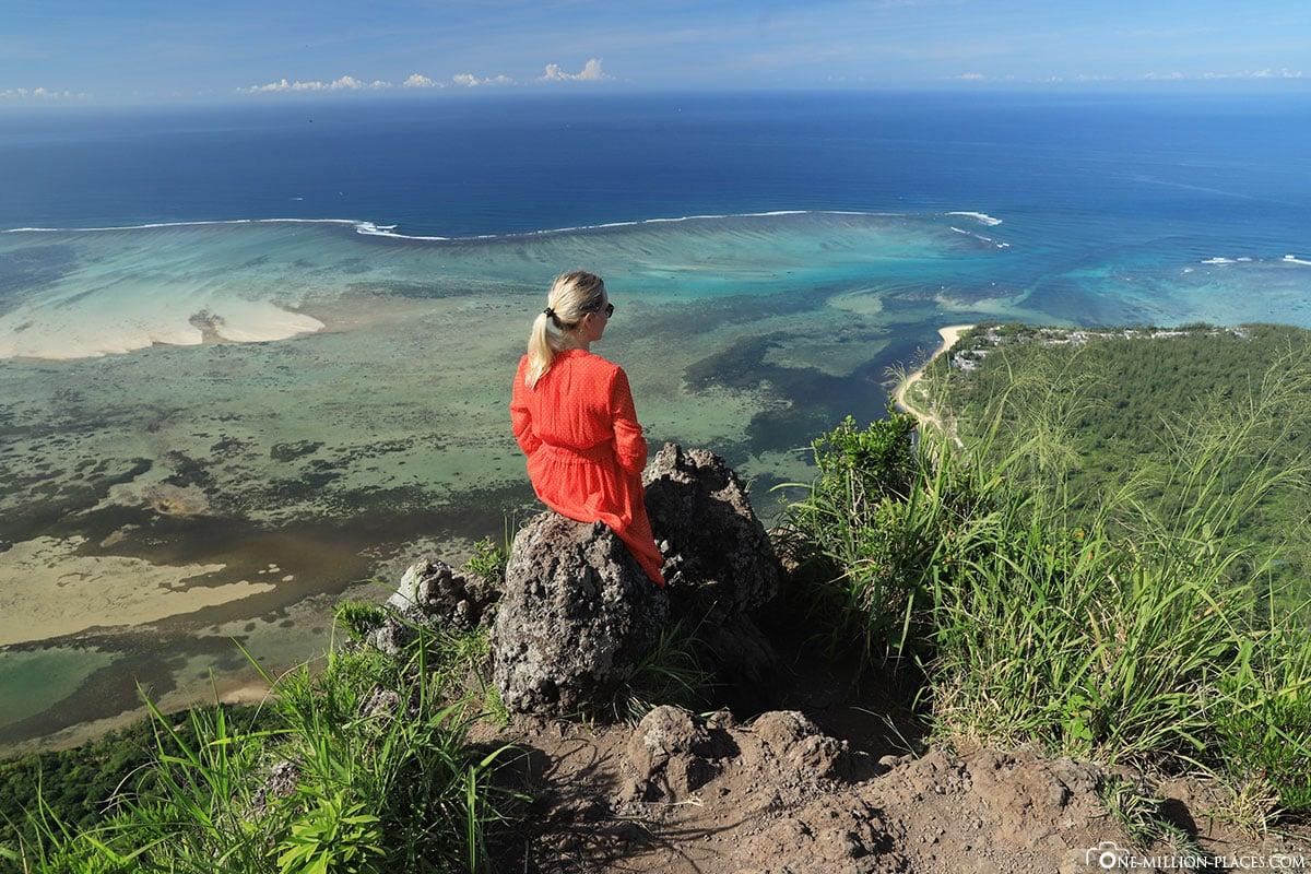 Le Morne, Blick, Unterwasser Wasserfall, Mauritius, Sehenswürdigkeiten, Wasserfall im Meer, Reisebericht