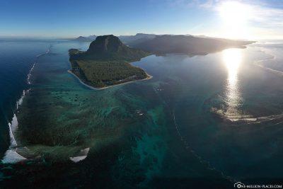 The underwater waterfall off Mauritius