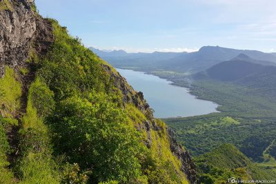 The view of the east coast of Mauritius