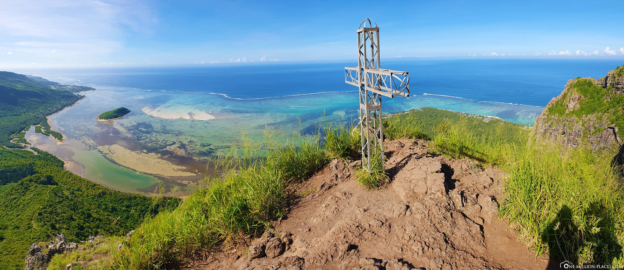 Panorama, Le Morne Brabant, Aussicht, Gipfel, Wanderung, Mauritius, Hike, Reisebericht