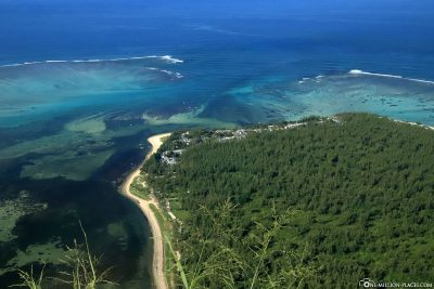 View of the site of the underwater waterfall