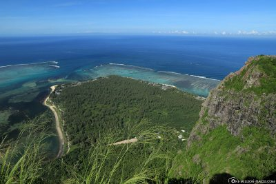 The view of the southern tip of Mauritius