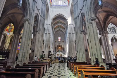 View of the altar and main nave