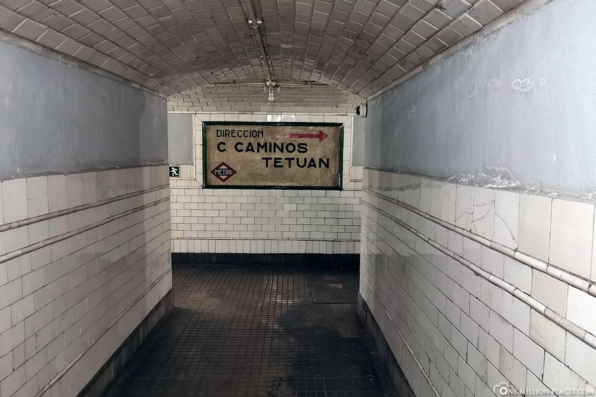 Wege, Geisterbahnhof Chamberi, Madrid, Innenstadt, Spanien, Sehenswürdigkeiten, Fotospots, Reisebericht