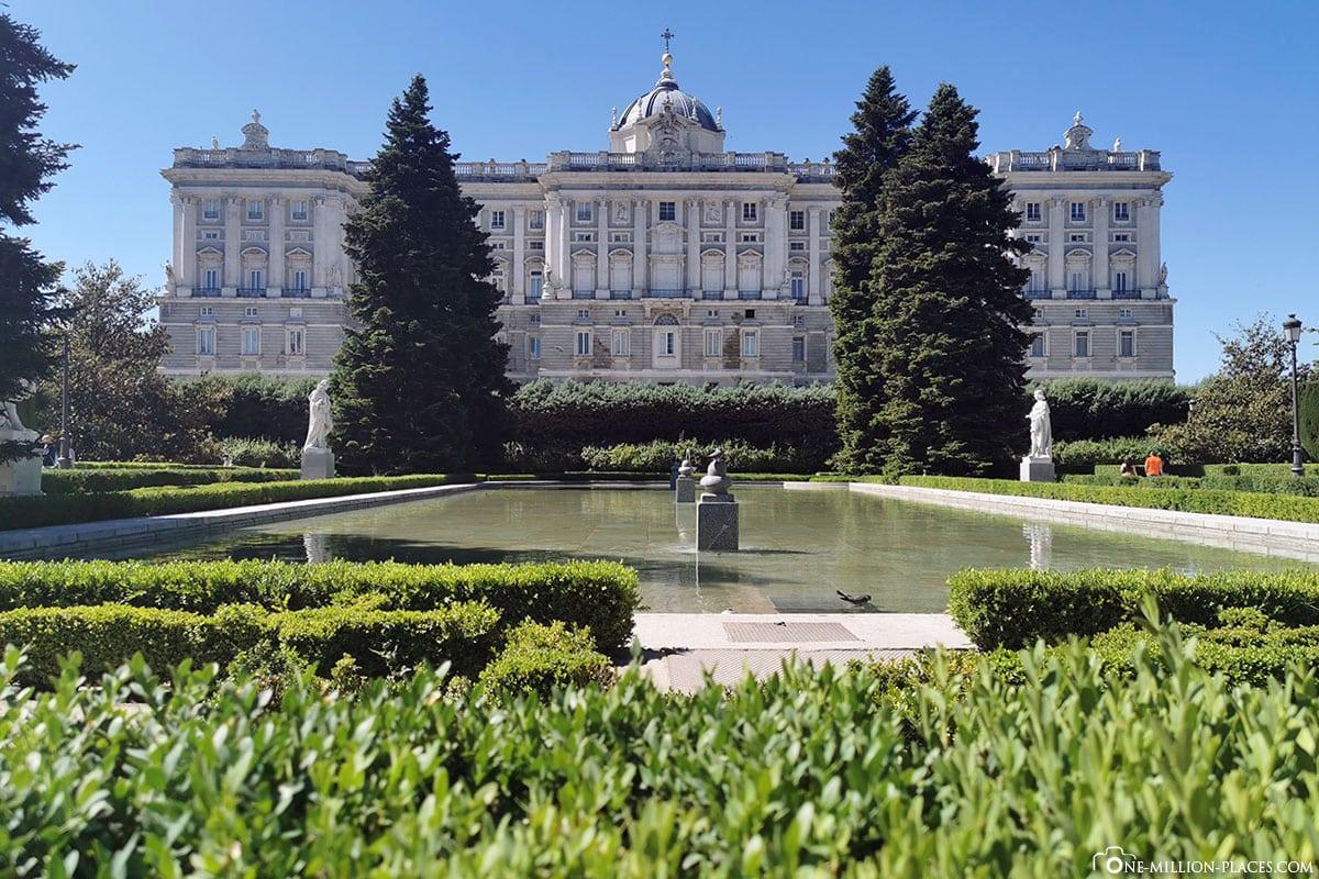 Rückwärtiger Flügel, Königliche Palast, Madrid, Sehenswürdigkeiten, Stadtrundgang, Reisebericht