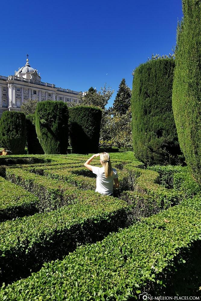 Sabatini-Gärten, Königliche Palast, Madrid, Sehenswürdigkeiten, Stadtrundgang, Reisebericht