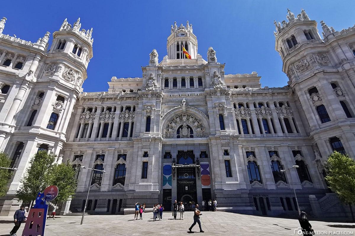 Palacio de Cibeles, Madrid, Innenstadt, Spanien, Sehenswürdigkeiten, Fotospots, Reisebericht
