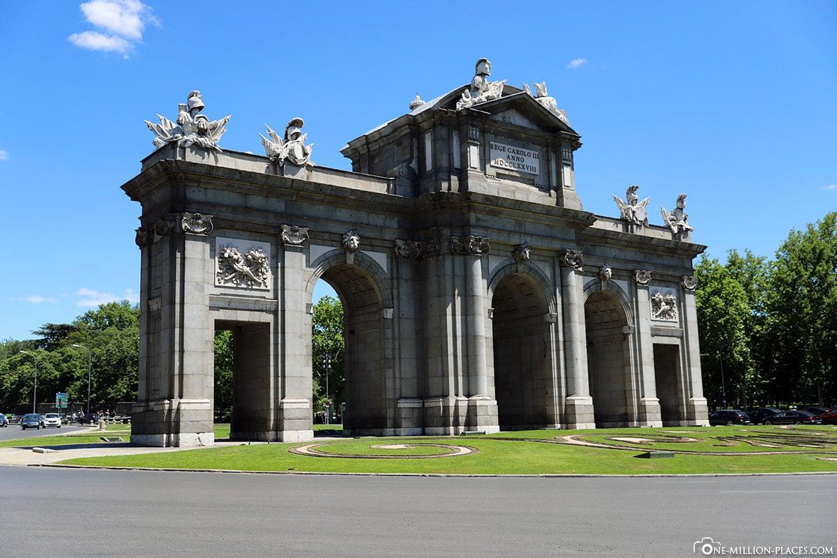 Puerta de Alcalá, Madrid, Innenstadt, Spanien, Sehenswürdigkeiten, Fotospots, Reisebericht