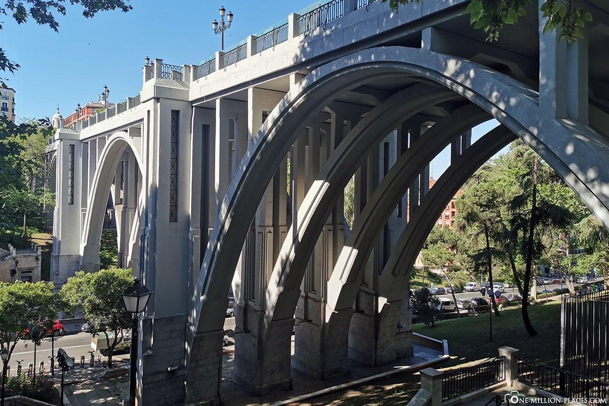 Segovia Viaduct, Madrid, Innenstadt, Spanien, Sehenswürdigkeiten, Fotospots, Reisebericht